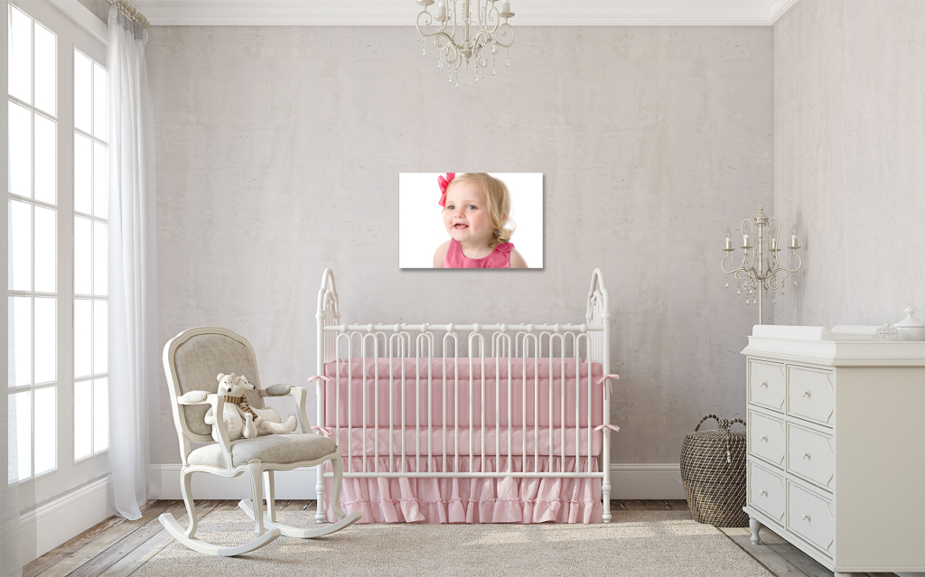 Nursery w wall portrait